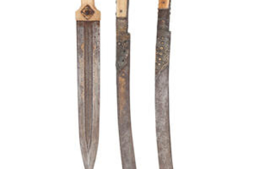 A Caucasian Kindjal, And Two Ottoman Turkish Yataghans, All 19th Century