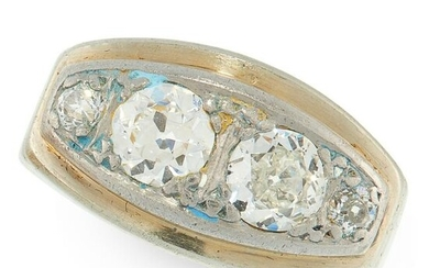 A DIAMOND DRESS RING, CIRCA 1940 in 18ct white gold and