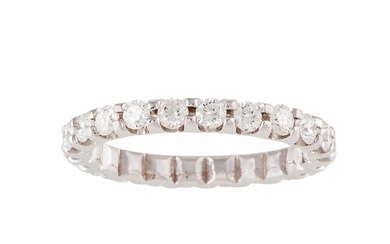 A FULL BANDED DIAMOND ETERNITY RING, the brilliant cut diamo...