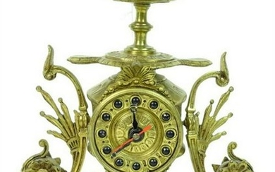A French Style Gilt Bronze Desk Clock