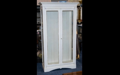 A Limed Oak French Style Glass Free Standing Display Cabinet...