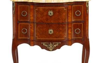 A Louis XV Style Parquetry Commode