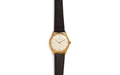 A Men's Yellow Gold Wristwatch, IWC vintage yellow gold