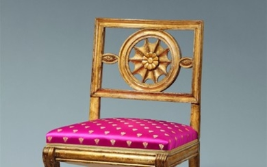 A Neoclassical giltwood chair