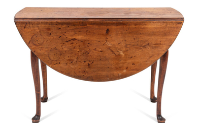 A Queen Anne Cherrywood Drop-Leaf Table