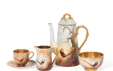 A Royal Worcester coffee set by Walter Sedgley, dated 1923-26