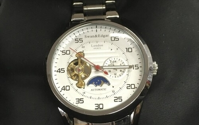 A Swan & Edgar automatic sports watch with moonphase dial.