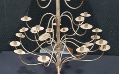 A Wrought Iron Floor Standing Candelabrum with 23 branches on tripod base (Approx. H: 210cm), from House of Manor in Mosman