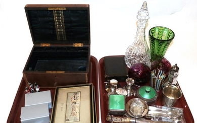 A group lot of silver, silver plate and other items...