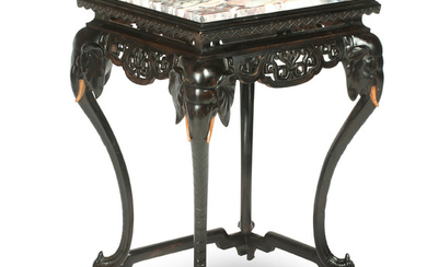 A marble topped occasional table