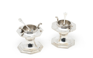 A pair of Victorian silver salts