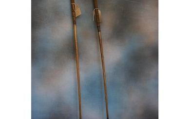 A pair of hickory shafted William Park leather faced scar-ne...