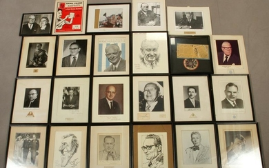 AUTOGRAPHED B/W PHOTO COLLECTION