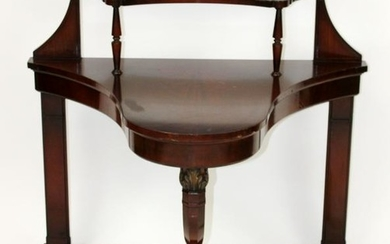 American Empire mahogany shaped console