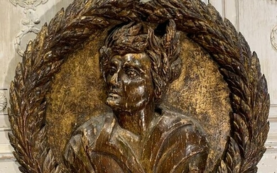 An 18th C. Italian Wood Carved Relief Plaque