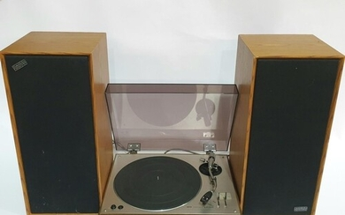 An Akai AP-003 turntable, in wood and brushed aluminium case...