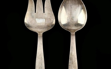 An Allan Adler Sterling Silver Two Piece Serving Set
