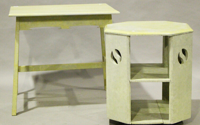 An early 20th century Arts and Crafts style painted softwood rectangular centre table, height 73cm