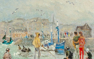 Andre Hambourg (French, 1909-1999) Sur le Pont,