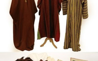 Assorted Eastern Vestments and Accessories, including a cotton striped robe...