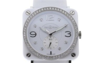 Bell & Ross - BR S White Ceramic Quartz White Diamond Dial Diamond Bezel - BRS-WHC-PH-LGD/S - Women - 2019