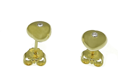 Brilliant stud earrings GG 585/000 with 2 brilliants,...