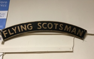 CAST IRON FLYING SCOTSMAN REPRO SIGN