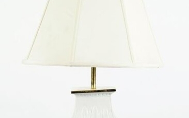 CHINESE BLANC DE CHINE VASE STEMMED TABLE LAMP