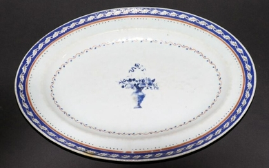 """CHINESE EXPORT PORCELAIN TRAY, 18TH C., W 10.7"""""""