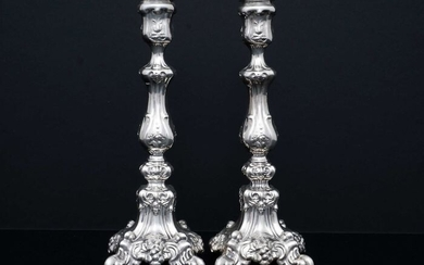 Candlestick (2) - .925 silver - Israel - Mid 20th century