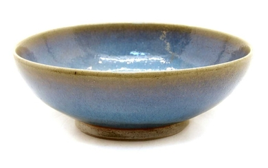 Charles Vyse (1882-1971), a stoneware footed bowl in a blue glaze