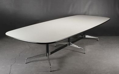Charles and Ray Eames. Dining table/conference table, Model 'Segmented Table, Boatshape', 2014