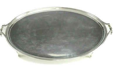 Charles & Richard Comyns Sterling Silver Oval Tray