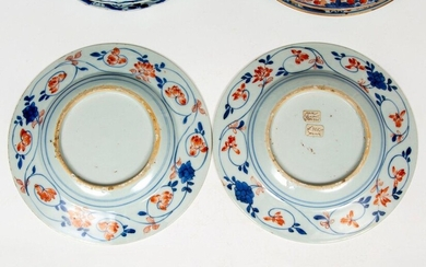 China, collection blue-white and Imari plates, mainly 18th...