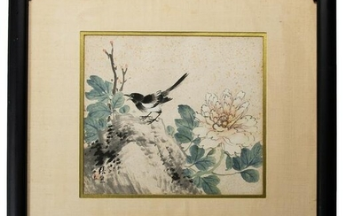 Chinese Painting of Flower and Bird by Zhang Xiong