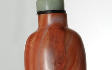 Chinese Red Agate Snuff Bottle, 19th Century