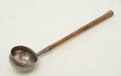 Colonial American Coin silver Ladle, ca. 1720. Marked