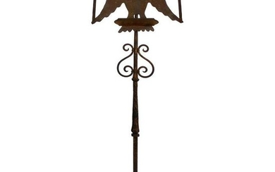Early 1900s Gilt-Iron Eagle Book-Stand