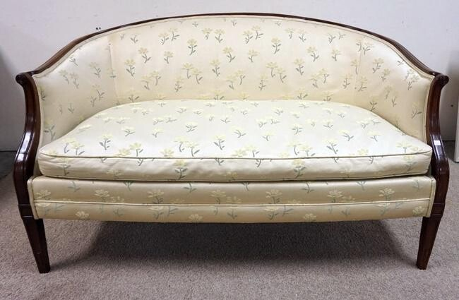 FLORAL UPHOLSTERED LOVE SEAT