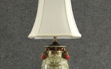 Fine Chinese Porcelain Urn with Plums Table Lamp