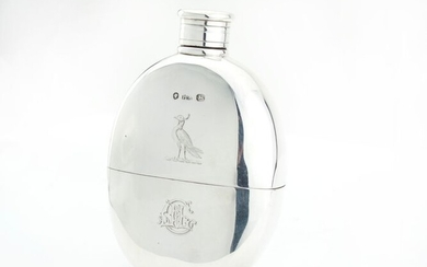 Flask - .925 silver - Henry Hyde Aston\t - England - 1864