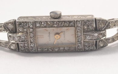 French Eviana white metal (indistinct mark inside case) and ...
