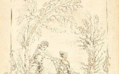 French School, late 18th century- Design for a decorative panel...