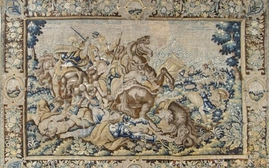 "French wool and silk tapestry ""The Battle of Vesuvius"