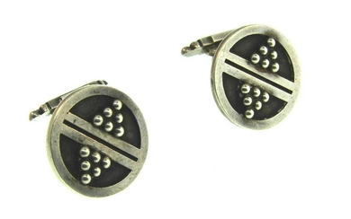 Georg Jensen Sterling Silver Round Ball Cufflinks