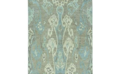 Ikat Tribal Design Hand Knotted Pure Wool Oriental Rug