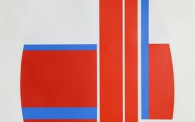 Ilya Bolotowsky, Red Oval Variation 3, Screenprint