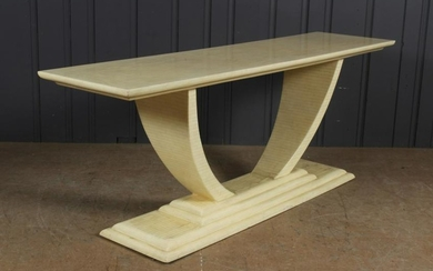 Karl Springer Style Tessalated Console Table
