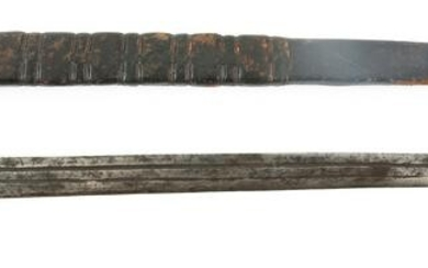 LATE 18TH C. S QUILLON SIDE KNIFE SHORT SWORD