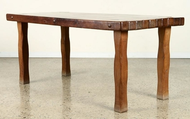 MID CENTURY MODERN BRAZILIAN TABLE CARVED C.1960